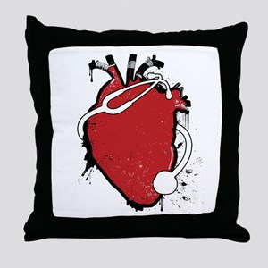 anatomical stethoscope Throw Pillow