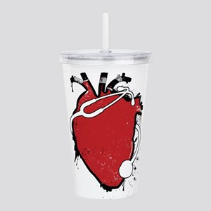 anatomical stethoscope Acrylic Double-wall Tumbler
