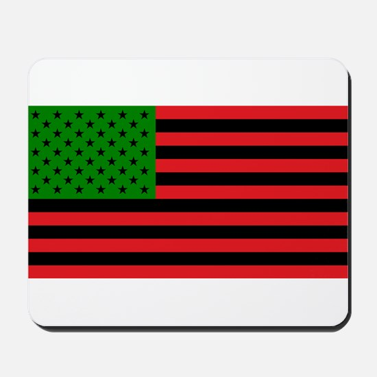 African American Flag - Red Black and Gr Mousepad