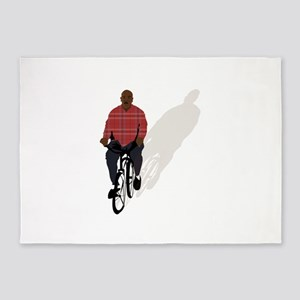 gangsta bike 5'x7'Area Rug