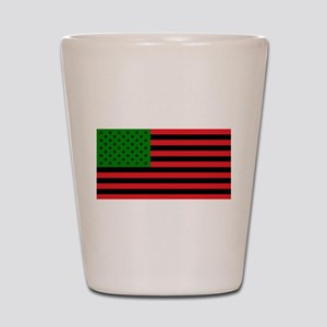 African American Flag - Red Black and G Shot Glass