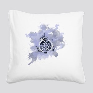 The 100 Clans Skaikru Square Canvas Pillow