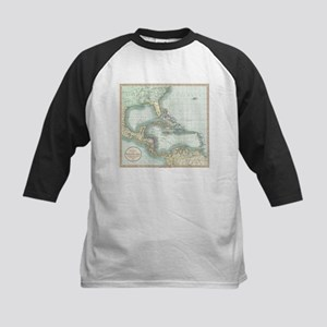 Vintage Map of The Caribbean (1803 Baseball Jersey