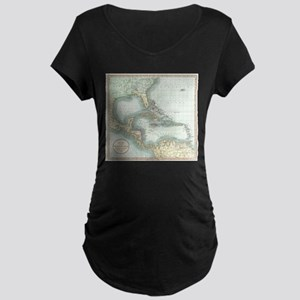 Vintage Map of The Caribbean (18 Maternity T-Shirt