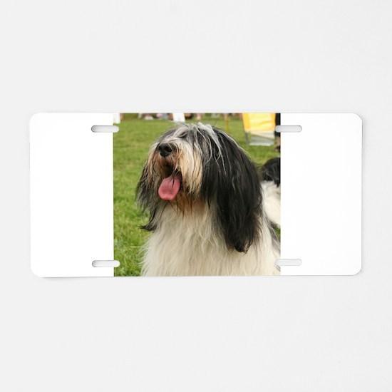 polish lowland sheepdog Aluminum License Plate