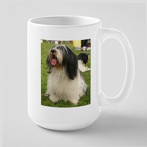 polish lowland sheepdog sitting Mugs