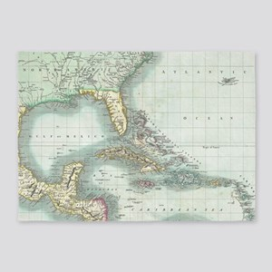 Vintage Map of The Caribbean (1803) 5'x7'Area Rug