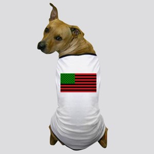 African American Flag - Red Black and Dog T-Shirt