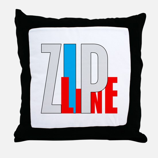 Zipline Throw Pillow