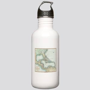 Vintage Map of The Car Stainless Water Bottle 1.0L