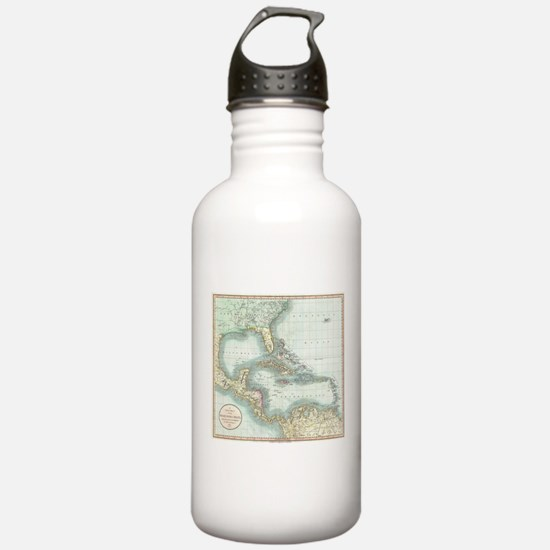 Vintage Map of The Car Water Bottle