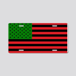 African American Flag - Red Aluminum License Plate