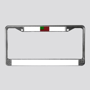 African American Flag - Red Bl License Plate Frame