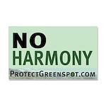 No Harmony Large Car Magnet 20 X 12