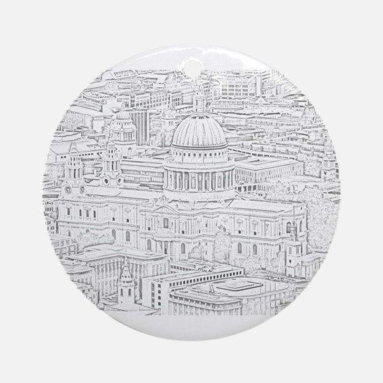 St Paul's Cathedral - City Of Londo Round Ornament