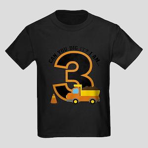 Dump Truck 3rd Birthday T-Shirt
