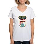 USS Essex (LHD 2) Women's V-Neck T-Shirt