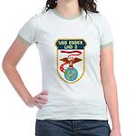 USS Essex (LHD 2) Jr. Ringer T-Shirt