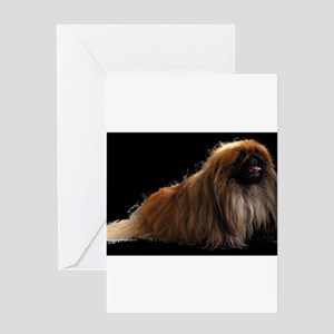 pekingese sitting Greeting Card