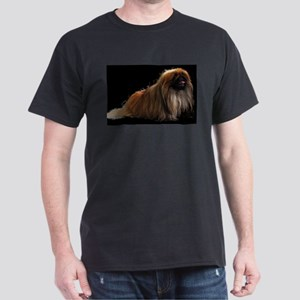 pekingese sitting Dark T-Shirt