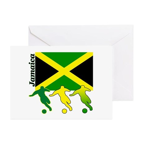 Jamaica Soccer Greeting Cards (Pk of 10)
