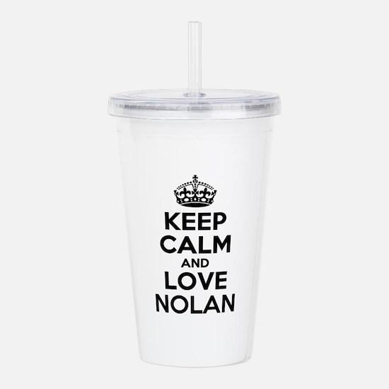 Keep Calm and Love NOL Acrylic Double-wall Tumbler