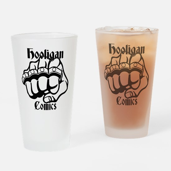 Hooligans Logo 1 Drinking Glass