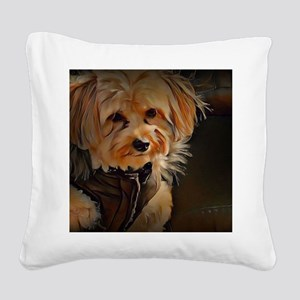 Copper with coat Square Canvas Pillow