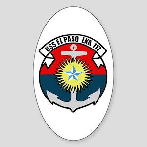 USS El Paso (LKA 117) Oval Sticker
