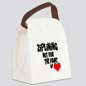 Ziplining Canvas Lunch Bag