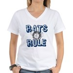 Rats Rule Women's V-Neck T-Shirt
