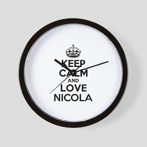 Keep Calm and Love NICOLA Wall Clock
