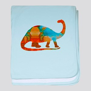 Brontosaurus baby blanket