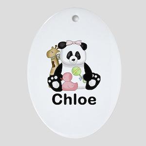 Chloe's Panda Oval Ornament