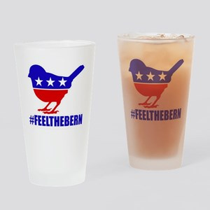 Political Symbol Bird #FeelTheBern Drinking Glass