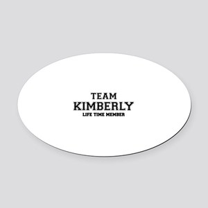Team KIMBERLY, life time member Oval Car Magnet