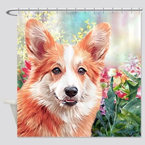 Corgi Painting Shower Curtain