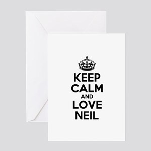 Keep Calm and Love NEIL Greeting Cards