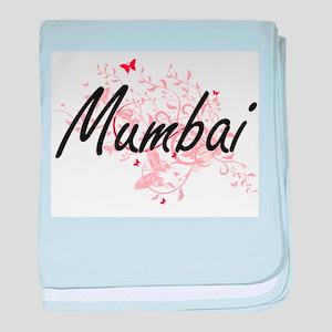 Mumbai India City Artistic design wit baby blanket