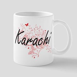 Karachi Pakistan City Artistic design with bu Mugs