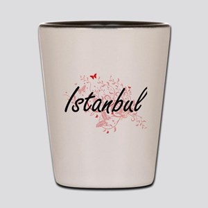 Istanbul Turkey City Artistic design wi Shot Glass