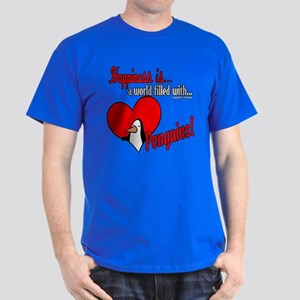 Happiness is penguins Dark T-Shirt