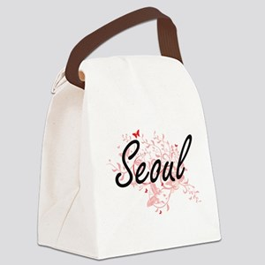 Seoul South Korea City Artistic d Canvas Lunch Bag