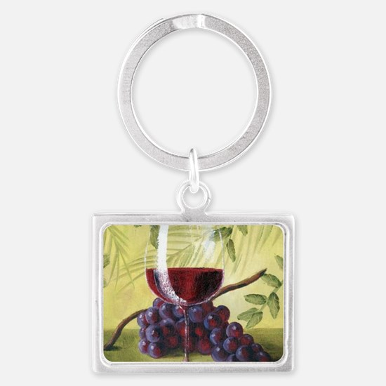 Cute Vineyards Landscape Keychain