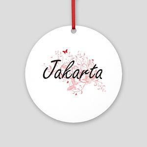 Jakarta Indonesia City Artistic des Round Ornament