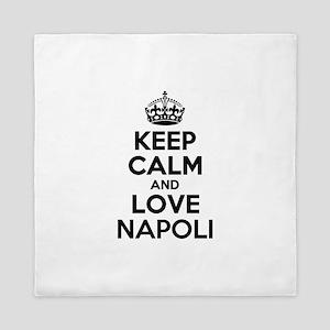 Keep Calm and Love NAPOLI Queen Duvet