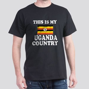 This Is My Uganda Country Dark T-Shirt