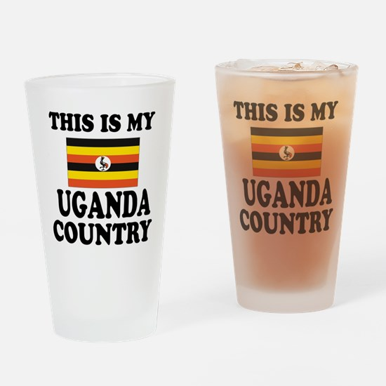 This Is My Uganda Country Drinking Glass