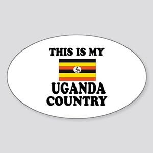 This Is My Uganda Country Sticker (Oval)