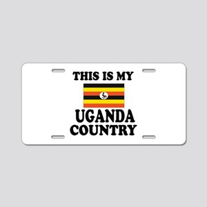 This Is My Uganda Country Aluminum License Plate